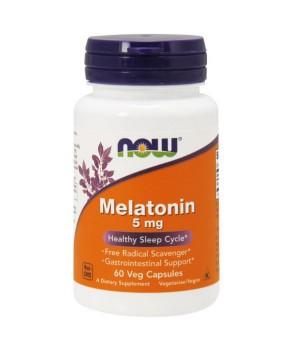 Now Melatonin 5 мг 60 капсул